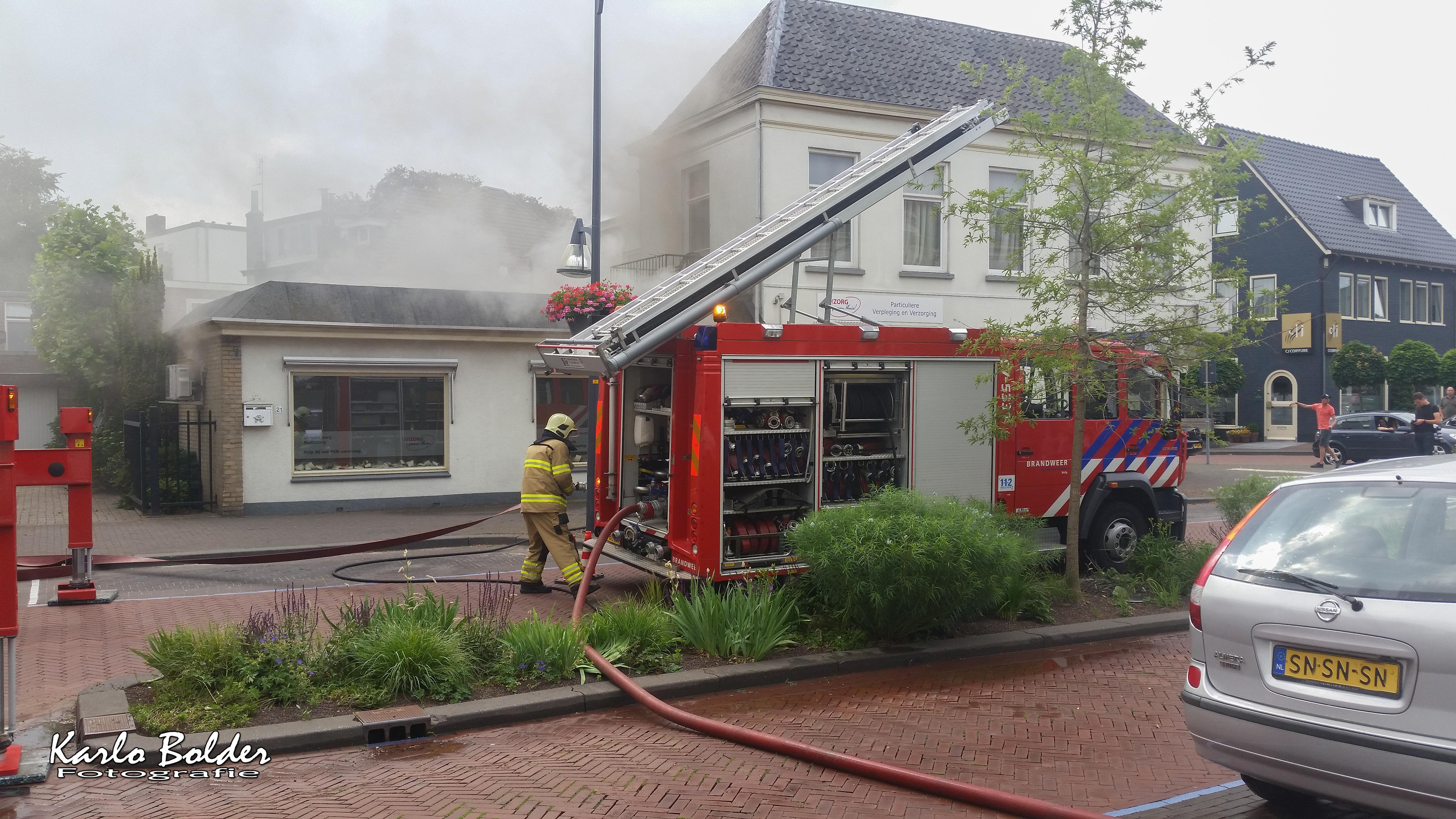 Veel schade na brand in centrum Velp